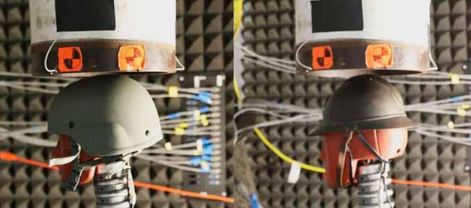 cascos de la Primera Guerra Mundial protegen contra las ondas de choque