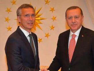El Secretario General de la OTAN con el Presidente turco Erdogan en 2016