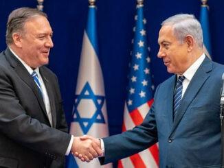 Mike Pompeo y Benjamín Netanyahu