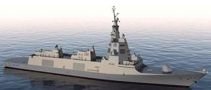 Representación digital de la fragata F-110
