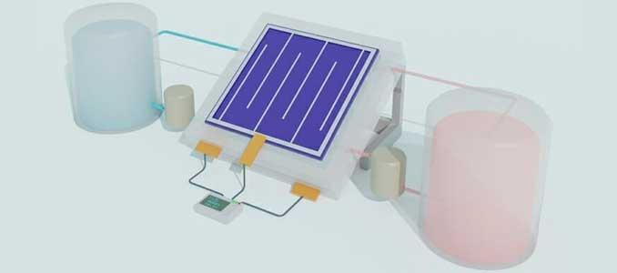 baterías flujo solar