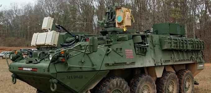 Stryker armado con láser, el MEHEL