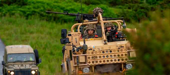 energía eléctrica en vehículos blindados
