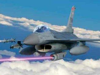 láser antimisiles disparado desde un caza F-16