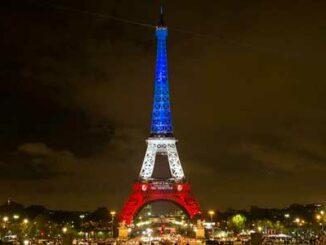 torre eiffel bandera francesa