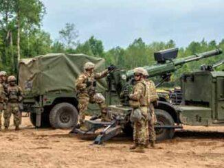 Humvee con un obús de 105mm