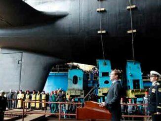 Putin inicia la construcción de nuevos submarinos nucleares y buques de guerra