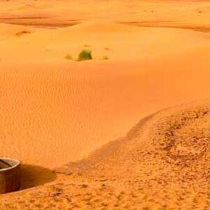 pozos en el desierto del Sahara